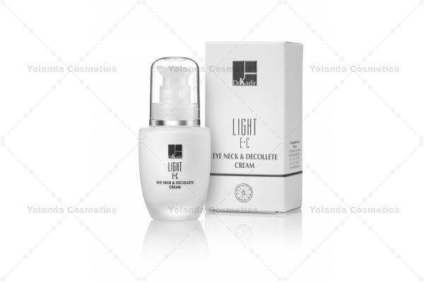 Crema  de ochi, gat  si decolteu cu vitaminele  E + C - Light E + C Eye neck and decollete cream - 30 ml
