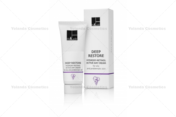 Crema hidratanta cu acizi de fructe si retinol + SPF 15 - Deep Restore Hydroxy Retinol Day Cream for Oily and Problematic Skin - 75 ml